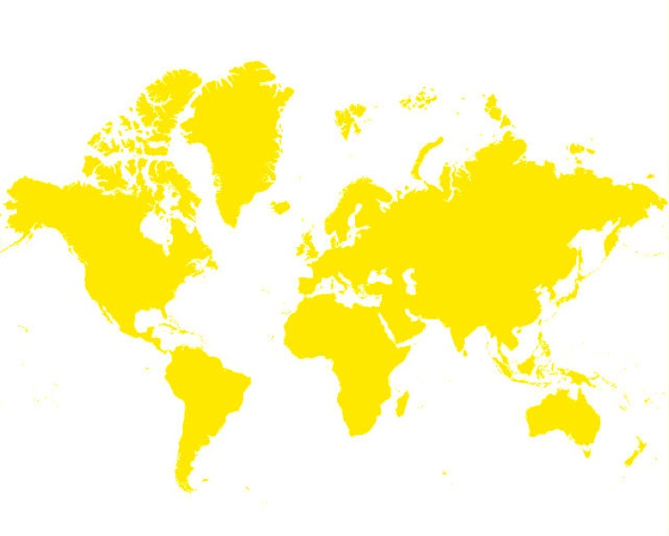 Weltkarte_gelb